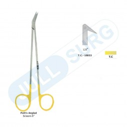 "Buy Pott's Angle Scissors 8"" 125 Deg Tungsten Carbide"